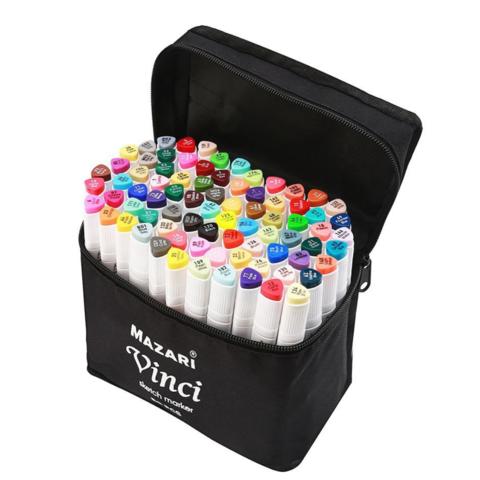 Mazari Vinci набор маркеров для скетчинга 80 шт двусторонние спиртовые пуля/долото 1.0-6.2 мм