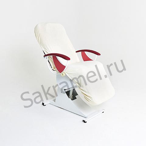 Чехол на кушетку на резинке с завязками(Махра, белый, 210х90 см, 1 шт/упк, штучно)