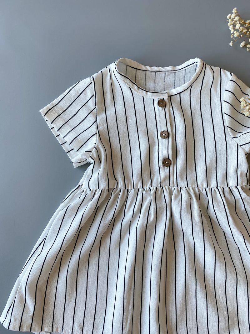 Льняное платье «Stripes»