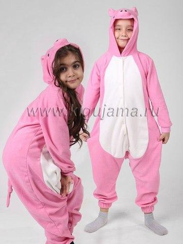 """Пижама кигуруми детская """"Поросенок розовый"""""""