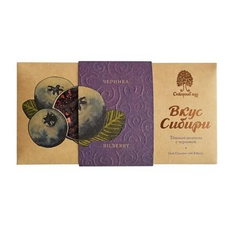 Шоколад темный с черникой / 100 г