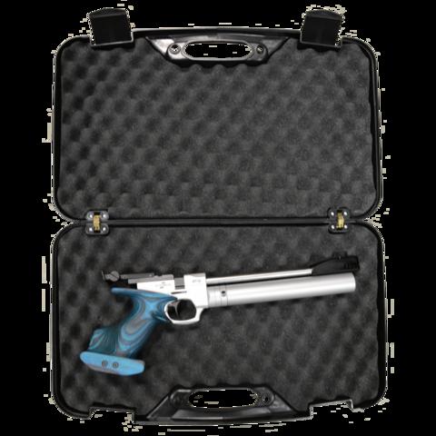 Кейс пистолетный АTAMAN  50*30*8,5 с клипсами, черный