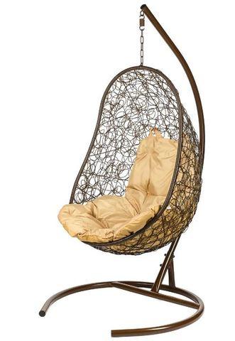 Кресло подвесное Ewerton Brown, бежевая подушка