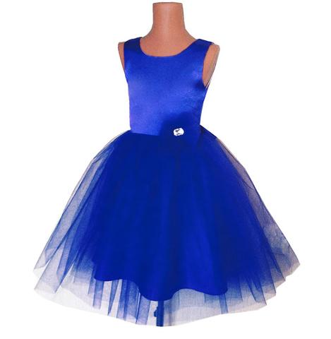 Платье пышное синее для малышек
