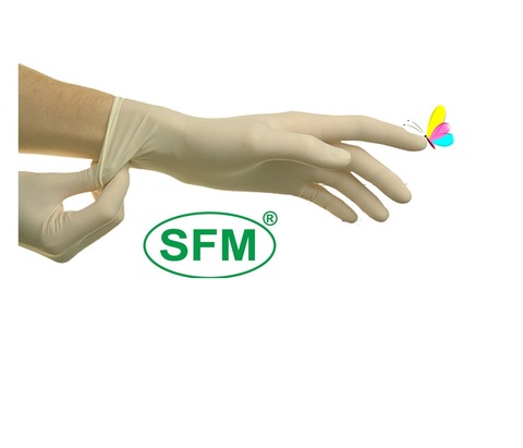 Перчатки латексные СМОТРОВЫЕ , диагностические нестерильные опудренные SFM
