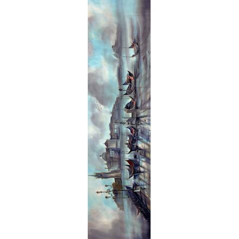 Шелковый шарф батик Венеция С-57