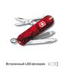 Нож-брелок Victorinox Classic SwissLite, 58 мм, 7 функций, полупрозрачный красный