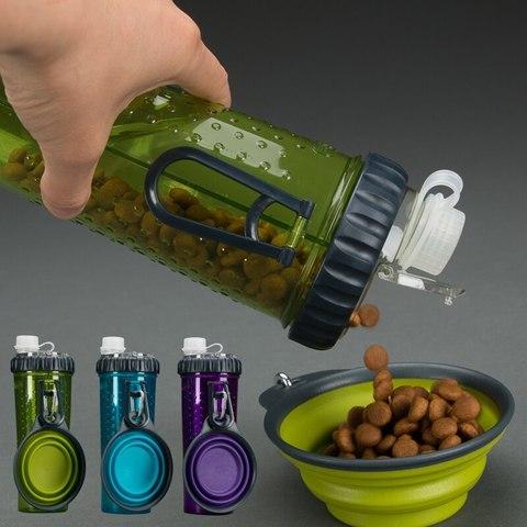 Бутылка двойная для воды и корма