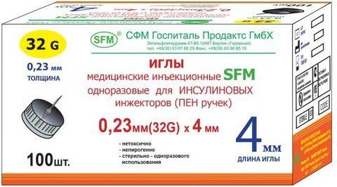 Иглы для шприц - ручек SFM 4 мм (32G, 33G)