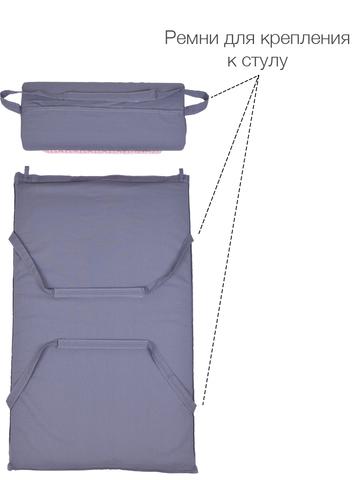 Набор массажный акупунктурный коврик + подушка Comfox (серо-розовый)