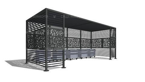 Ограждения для мусорных контейнеров NVS0020