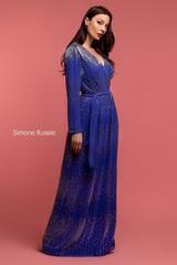 Длинное платье в пол с запАхом Simone Russie SR1960