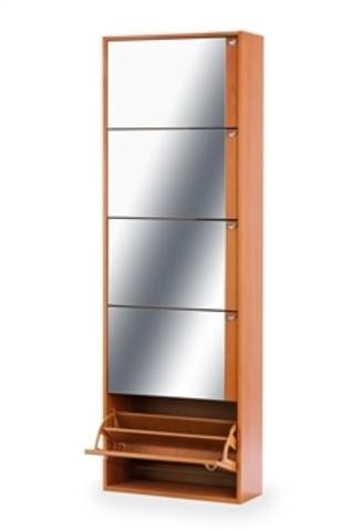 Обувница Комфорт К-5S (Вишня/Зеркало)