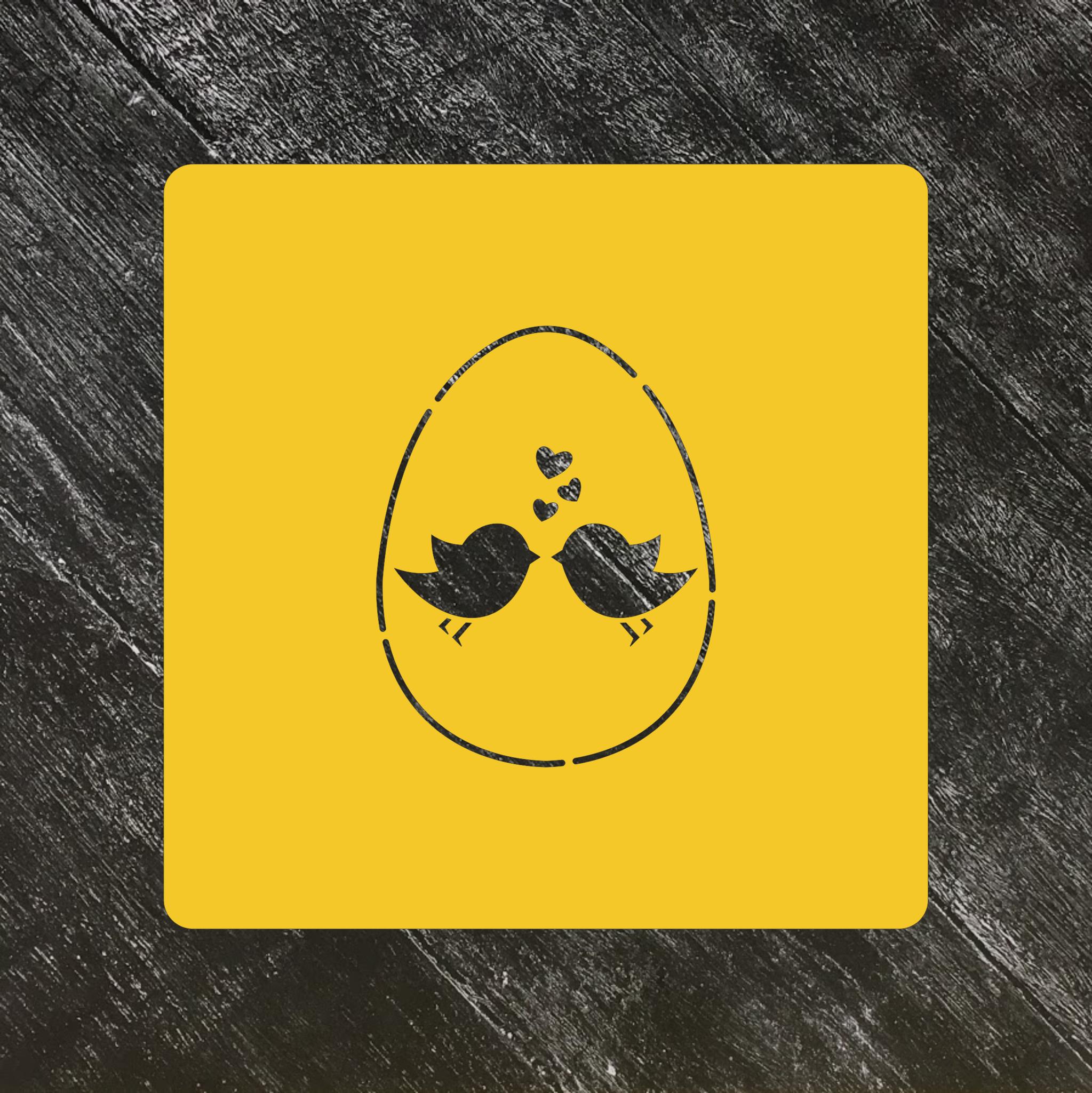Трафарет Пасхальный №29 яйцо с птичками