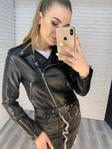 кожаная куртка-косуха женская nadya
