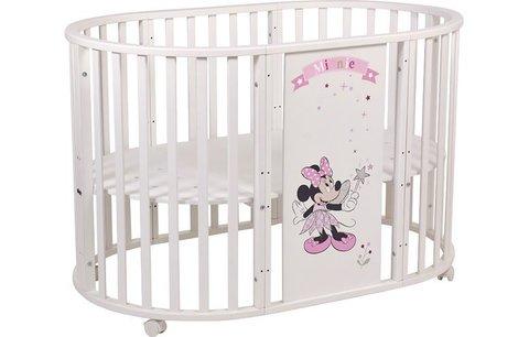 Кроватка детская Polini kids Disney baby 925 Минни Маус-Фея, белый