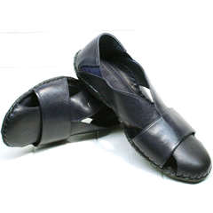 Закрытые босоножки сандали мужские кожаные Luciano Bellini 76389 Blue.