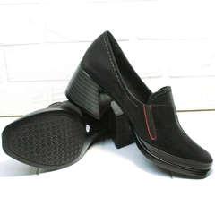 Осенние закрытые туфли кожаные женские H&G BEM 167 10B-Black
