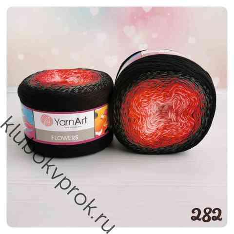 YARNART FLOWERS 282, Красный/серый/черный