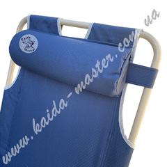 Шезлонг-кресло складной с подушкой и подлокотниками