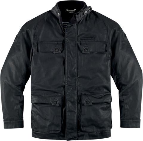 Мотокуртка - ICON 1000 AKORP (текстиль, черная)