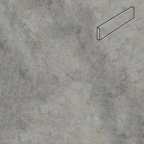 Interbau - Nature Art, Quarz grau/Серый 360x80x9,5, цвет 119 - Клинкерный плинтус