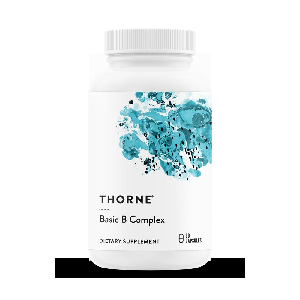 Базовый комплекс Витамина В, BASIC B COMPLEX, Thorne Research (60 капсул)