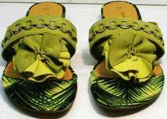 Модные женские шлепки летние Marco Tozzi 2-27104-20 Green.