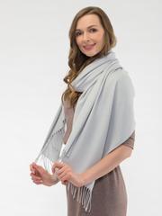 Шарф женский светло-серый aksisur теплая пашмина 045