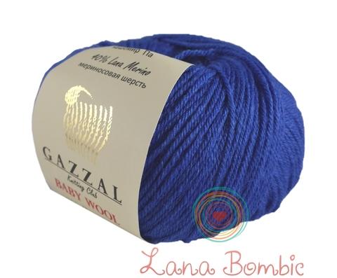 Пряжа Gazzal Baby Wool 830 электрик