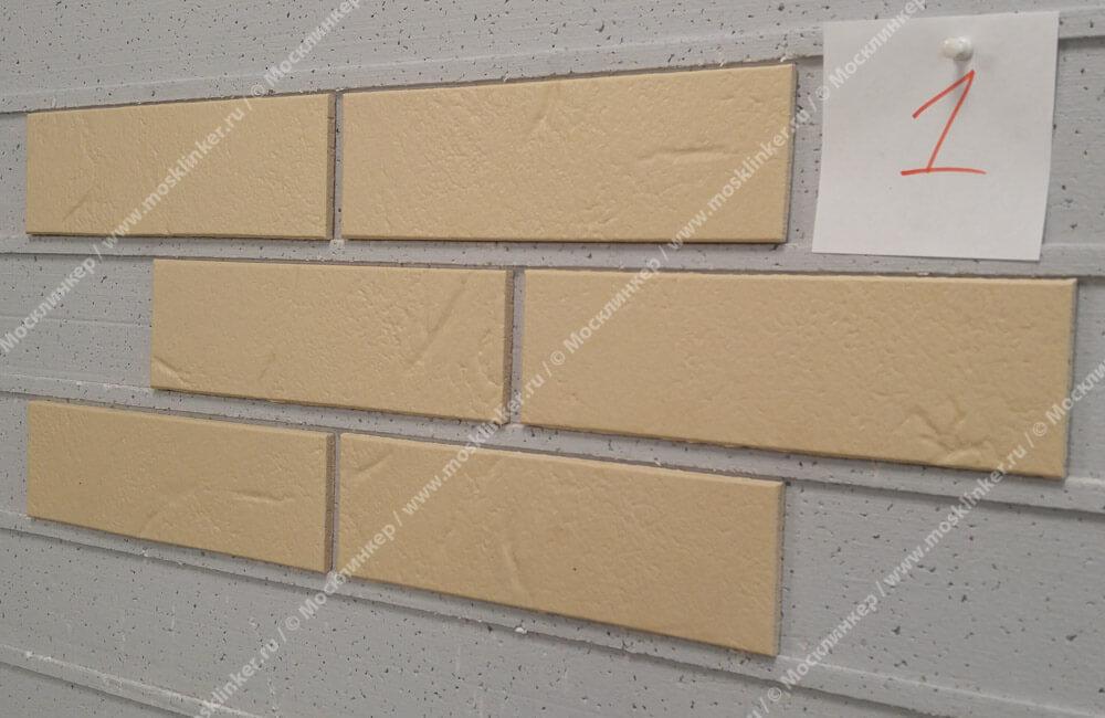 ABC - Alaska, Beige, genarbt, 240х71х7, NF - Клинкерная плитка для фасада и внутренней отделки