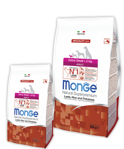 Monge Speciality Line Extra Small Adult Dog Lamb, Rice And Potatoes