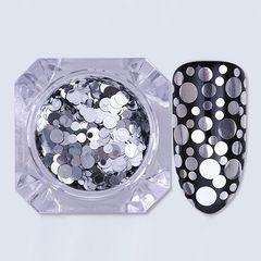 Pink House, Диско дизайн ногтей микс, серебро, 5 гр