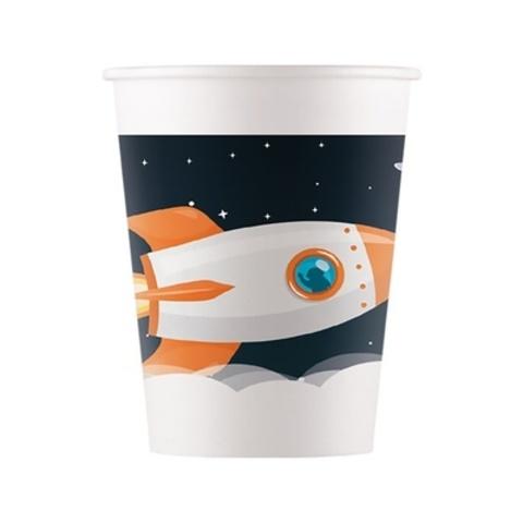 Стакан бум Открытый Космос 200мл 8шт