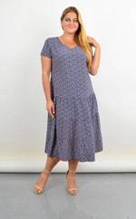 Твіст. Сукня з v-подібним вирізом для повних. Орнамент.