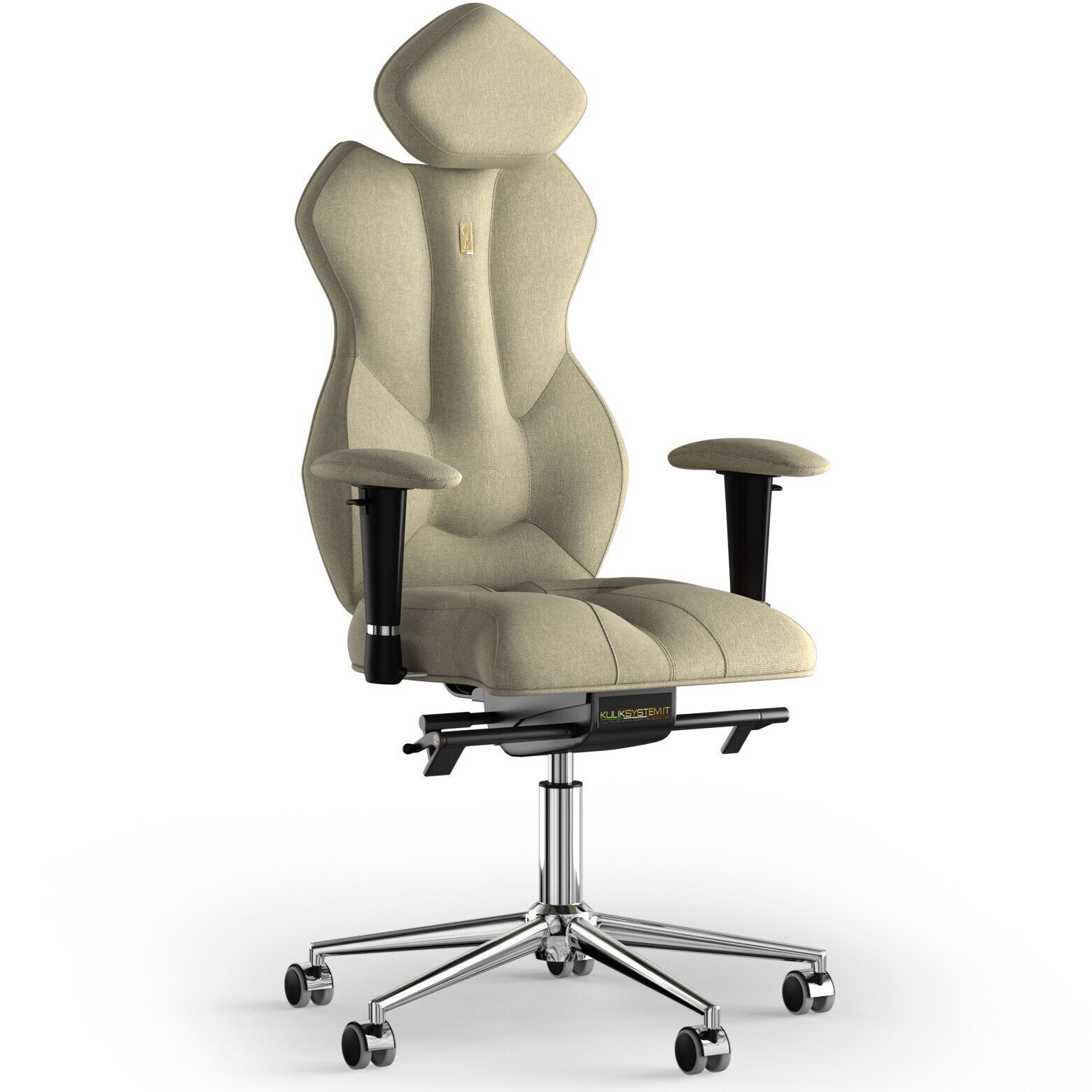 Кресло KULIK SYSTEM ROYAL Ткань с подголовником без строчки