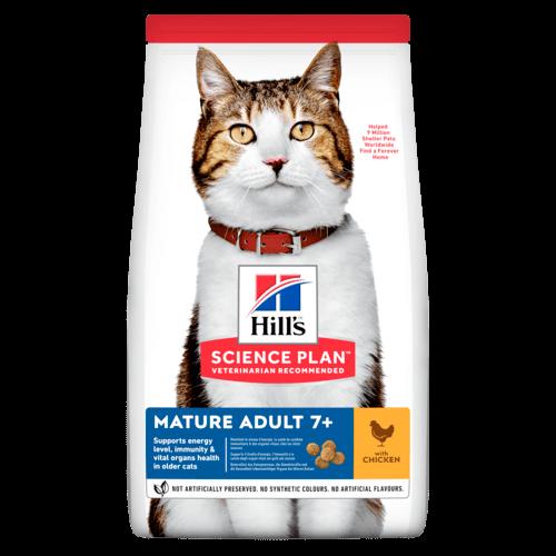 Сухой корм Корм для кошек от 7 лет Hill`s Science Plan Feline Mature Adult 7+ Active Longevity, с курицей sp-feline-science-plan-mature-adult-7-plus-active-longevity-chicken-dry-productShot_500.png.rend.png