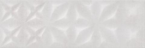 Плитка настенная CERSANIT Apeks 750х250 рельеф светло-серый ASU522D