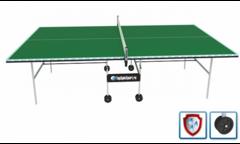 Всепогодный теннисный стол (усиленная модель) TopSpinSport VIP+ (зеленый)