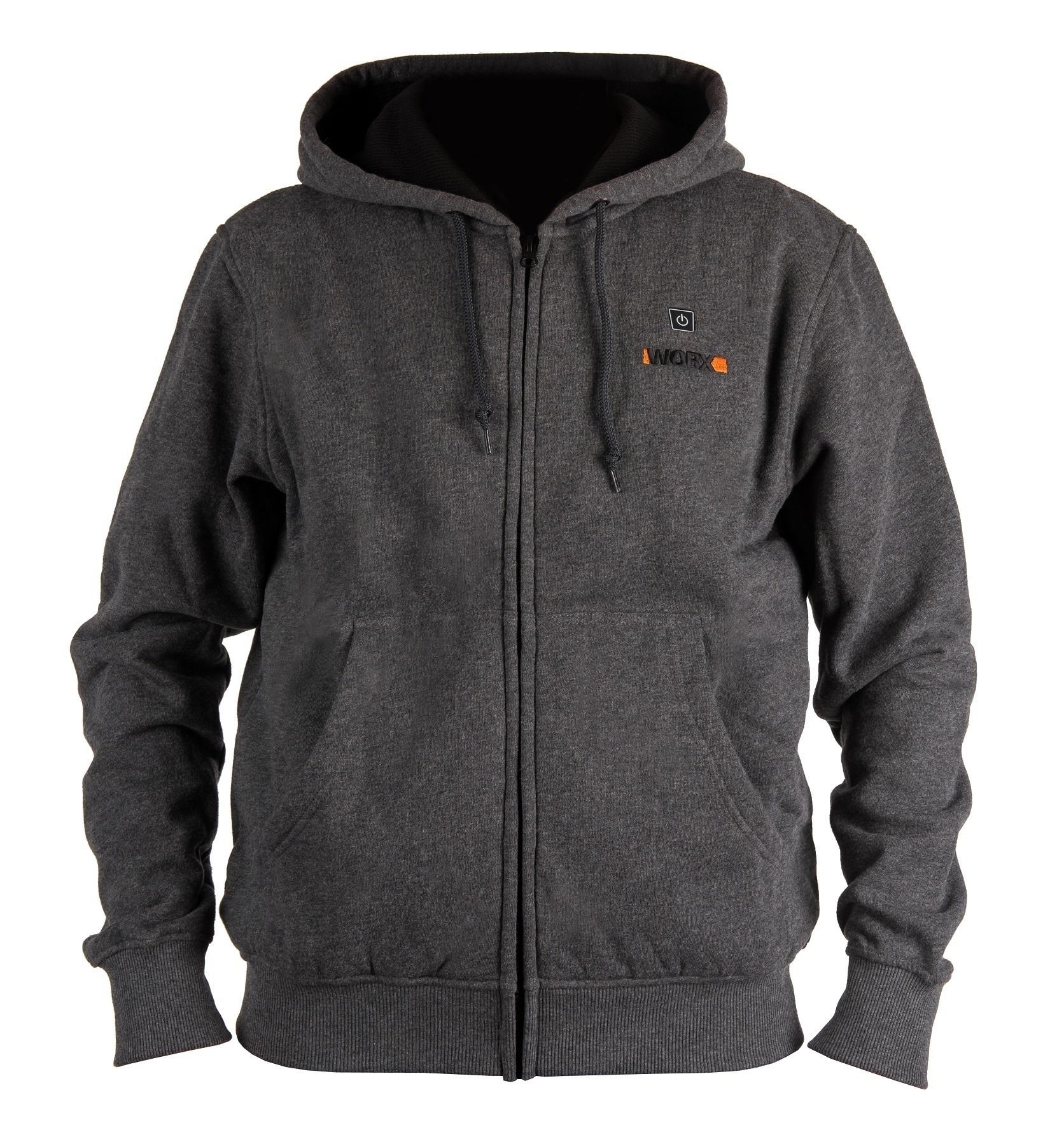 Куртка с подогревом Worx WA4660 XL темно-серая