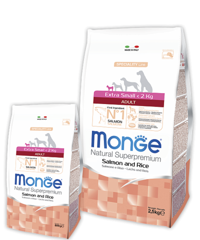 Monge Speciality Line Extra Small Adult Dog Salmone and Rice