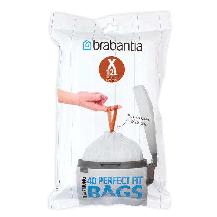 Мешки для мусора PerfectFit, размер X (10-12 л), упаковка-диспенсер, 40 шт., арт. 116841 - фото 1