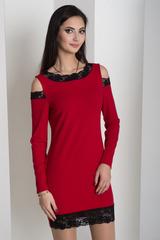Ажур. Молодіжна сукня з мереживом. Червоний