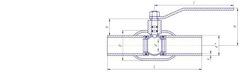 Конструкция LD КШ.Ц.П.400/305.025.Н/П.02 Ду400 стандартный проход с редуктором