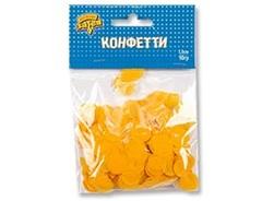 Конфетти Круги тишью Желтые 1,5 см,10 гр, 1 уп.