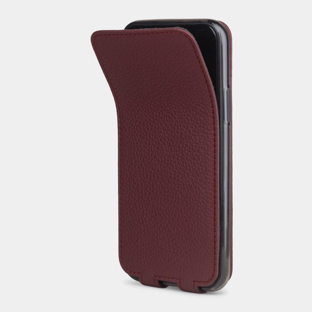 Чехол для iPhone 11 Pro из натуральной кожи теленка, бордового цвета