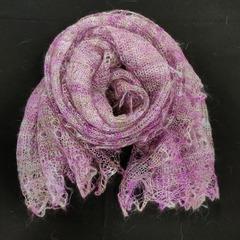 Пуховый палантин розовый 27
