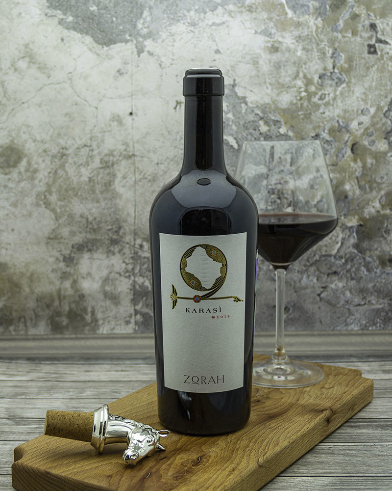 Вино Zorah Караси Красное Сухое 2014 г.у. 13,5% 0,75 л.