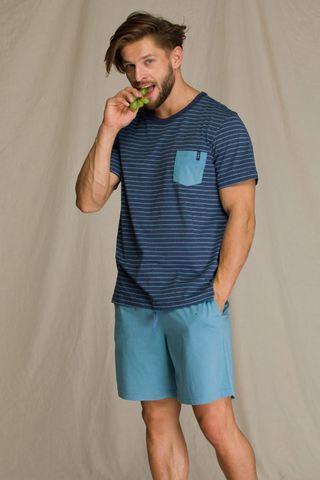 Пижама мужская с шортами KEY MNS 349 A21
