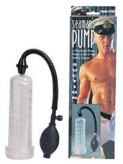 Прозрачный вакуумный массажер-помпа Seaman с силиконовой вставкой